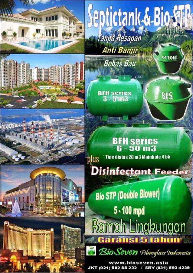 Bio septic tank biotech & biofil tration bhs & bfh series  by bioseven ekonomis, efisien & ramah lingkungan