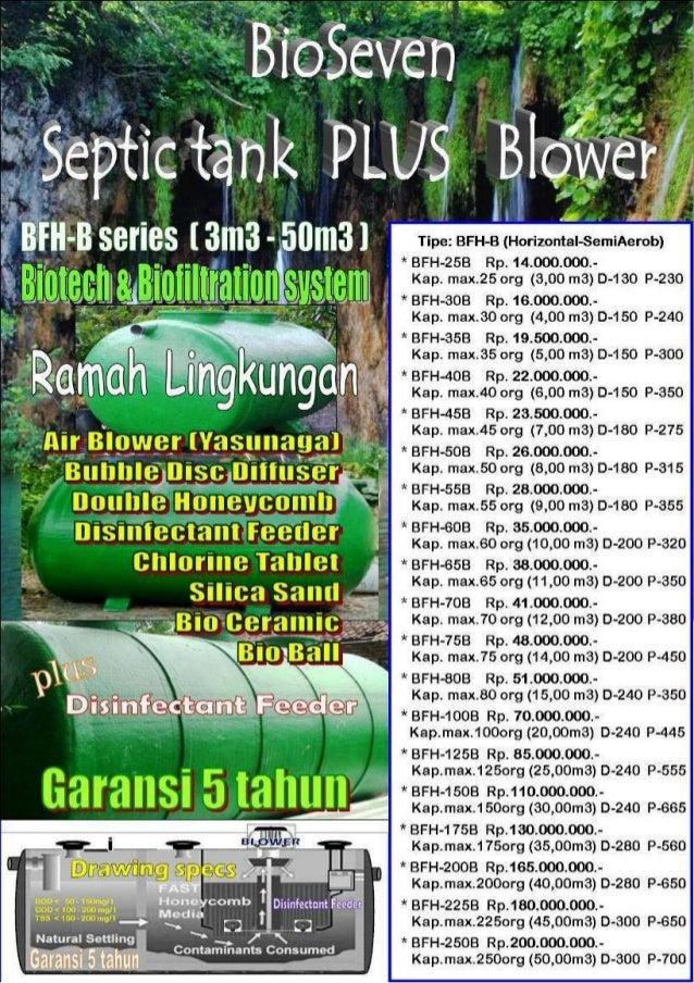Bio septictank blower tipe bfh b series ekonomis, efisien, ramah lingkungan & bergaransi by bio seven