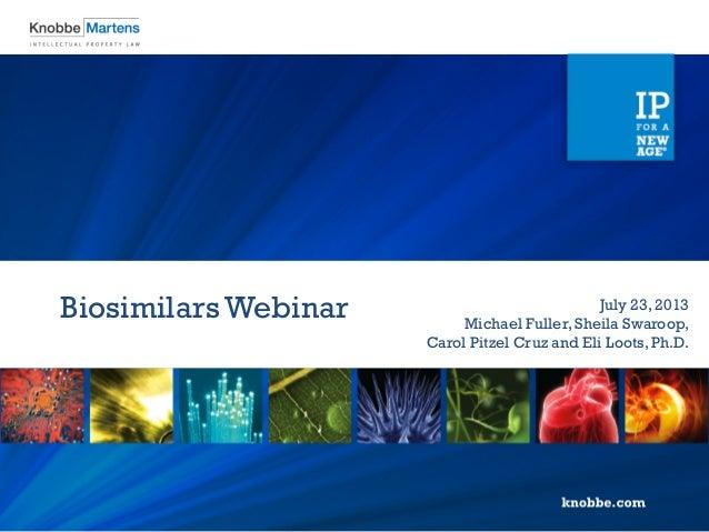 Preparing for Biosimilars: Key Points for Participating in the U.S. Regulatory Framework