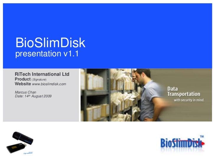 Bioslimdisk Presentation V1.1