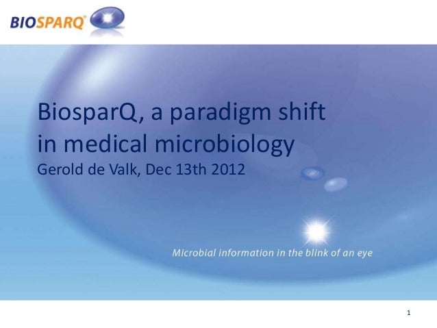BiosparQ, a paradigm shiftin medical microbiologyGerold de Valk, Dec 13th 2012                                1