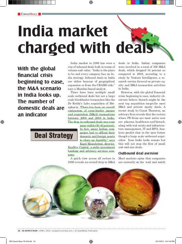 18 | BIOSPECTRUM | APRIL 2010 | biospectrumindia.com | A CyberMedia Publication n CoverStory n India market charged with d...