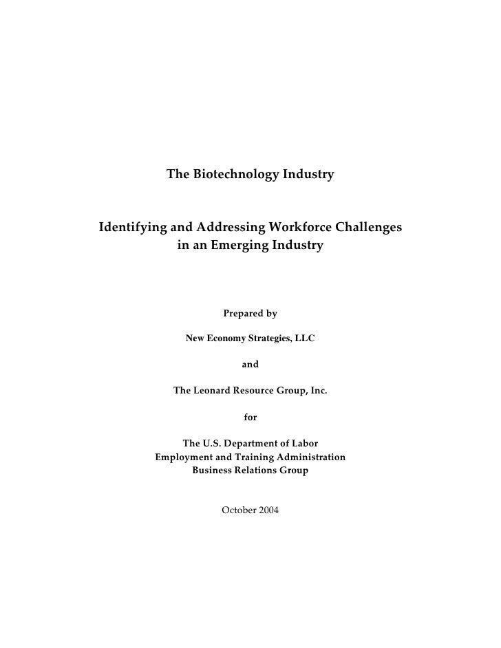 Biotech Industry Report Final