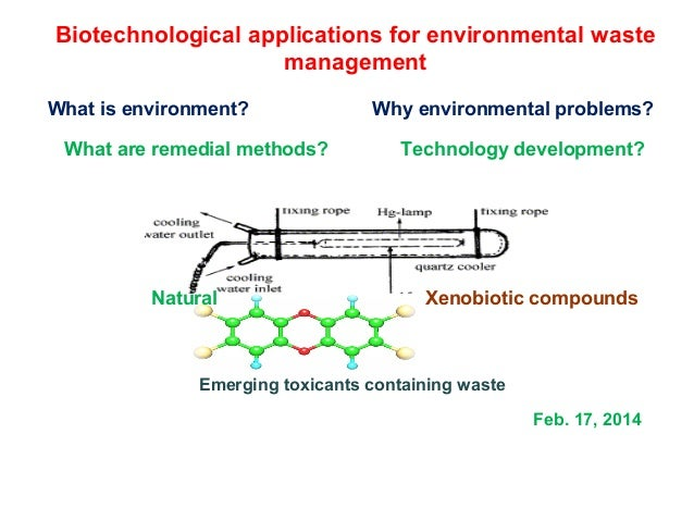 Biotechnological applications for environmental waste management What is environment? What are remedial methods?  Natural ...
