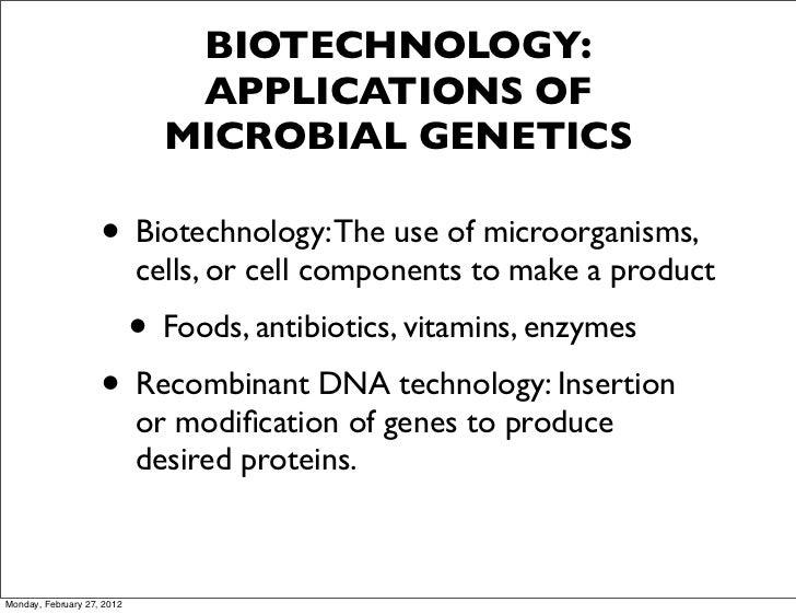 Biotechnology for exam 3