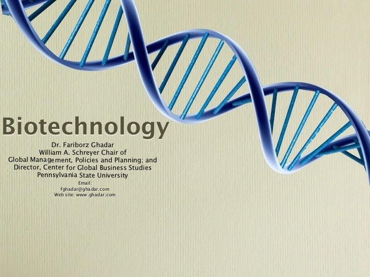 Biotechnology Presentation