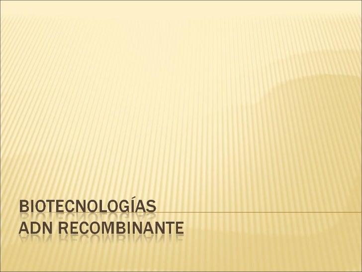 Biotecnologas
