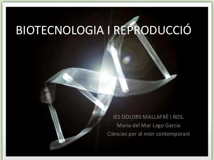Biotecnologia i reproducció