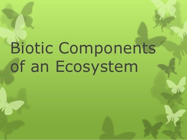 Biotic Componentsof an Ecosystem