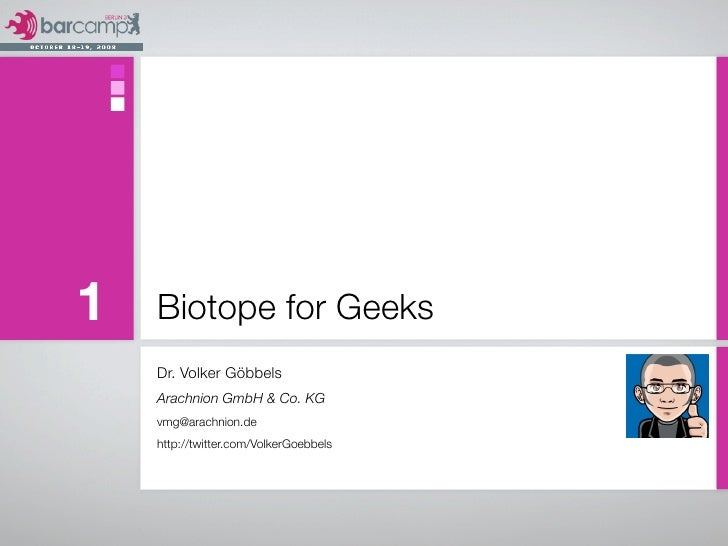 Biotope For Geeks