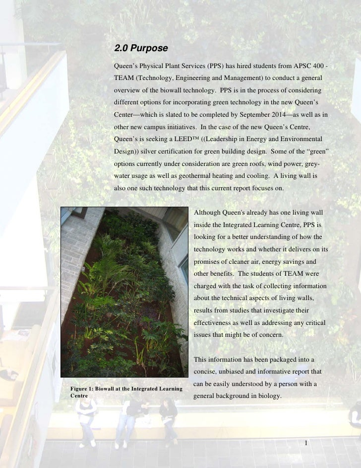 Assessment Of Biowalls An Overview Of Plant And