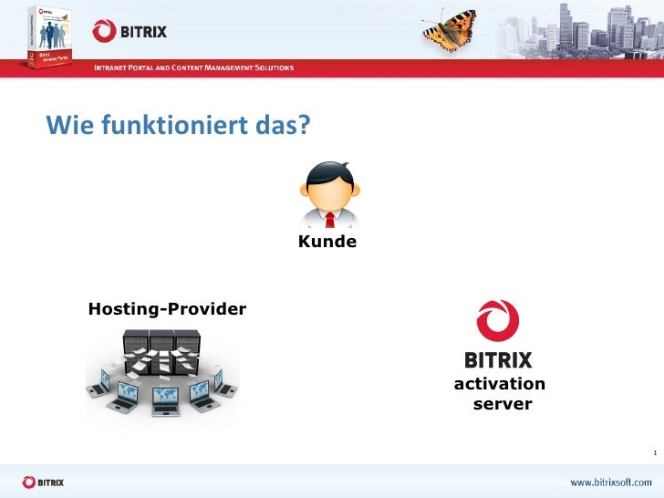Wie funktioniert das? activation  server Hosting-Provider Kunde