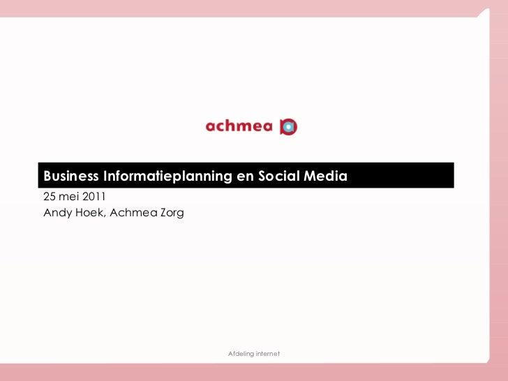 Business Informatieplanning & Social Media | 25-5-2011
