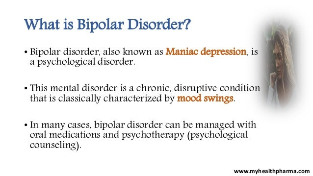 what is bipolar disorder Bipolar disorder is a mental health condition that causes extreme shifts in a person's mood and energy levels a person with bipolar disorder may experience euphoric.