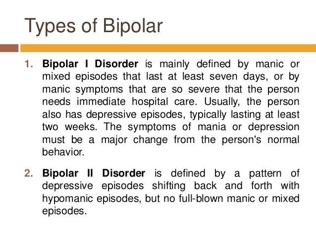 a study of bipolar disorder