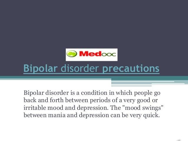 Bipolar disorder precautions