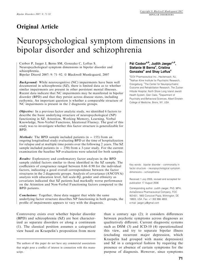 Copyright ª Blackwell Munksgaard 2007Bipolar Disorders 2007: 9: 71–92                                                     ...