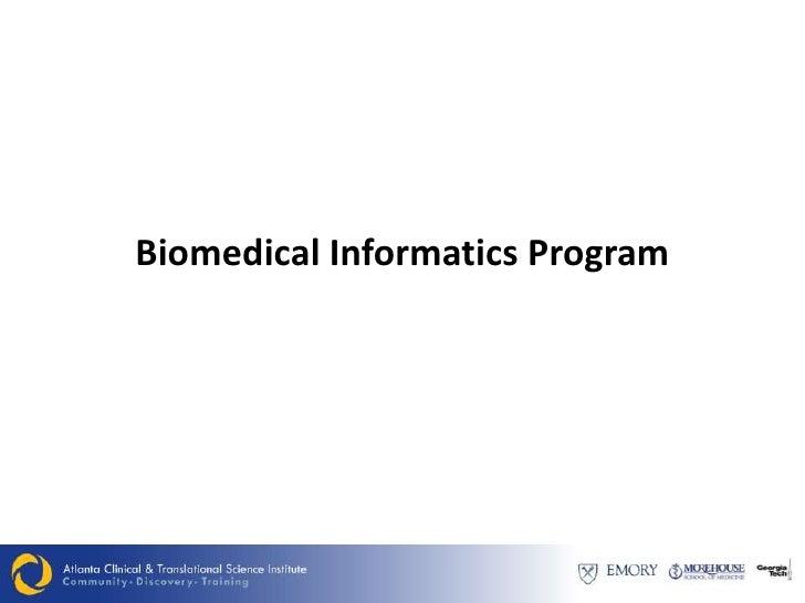 Biomedical Informatics Program