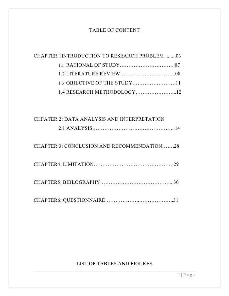 TABLE OF CONTENTCHAPTER 1INTRODUCTION TO RESEARCH PROBLEM ........03        1.1 RATIONAL OF STUDY…………………………..07        1.2...