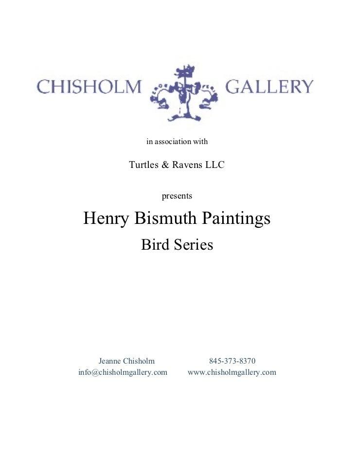 Bird Series by Henry Bismuth, Courtesy of Chisholm Gallery, LLC