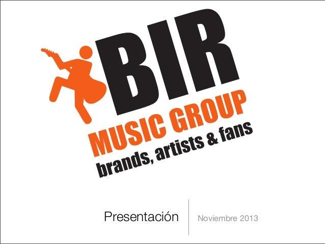 Presentación  Noviembre 2013
