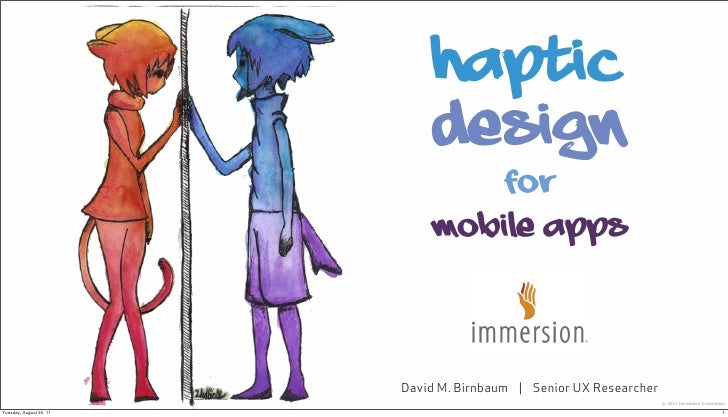 WIP Back To School Webinars - Designing Haptics in Mobile Applications