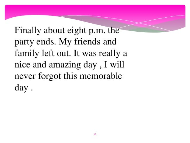 memorable day essay start life