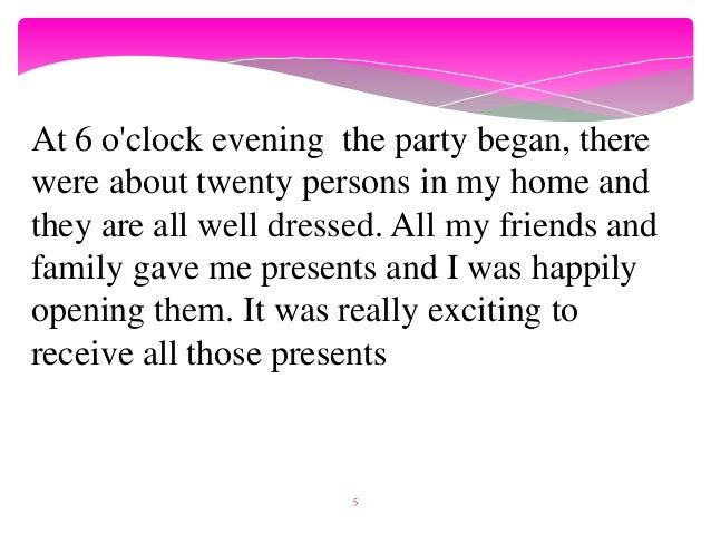 Narrative essay happy story