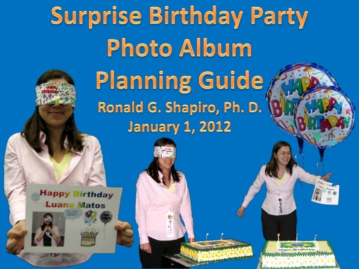 Surprise Birthday Party Photo Album Planning Guide