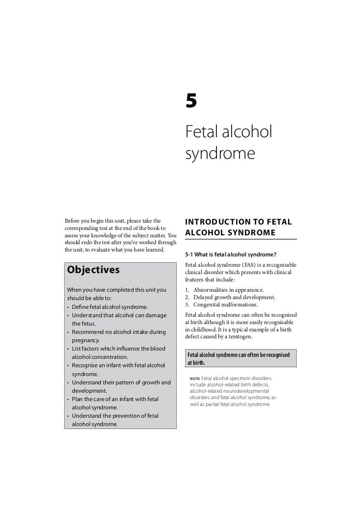 Birth Defects: Fetal alcohol syndrome