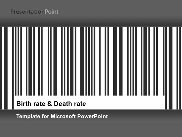 Birth rate & Death rate Template for Microsoft PowerPoint
