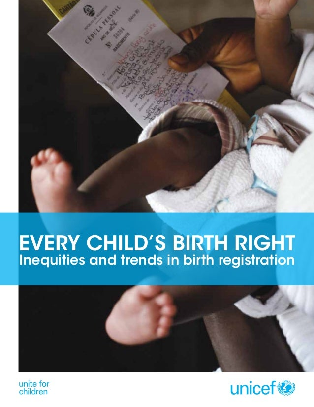 Every Child's Birth Right: Inequities & Trends in Birth Registration