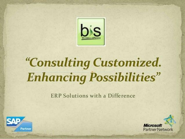 Sales presentation for MPG BIS