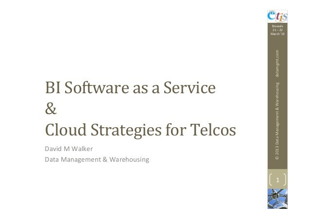 BI SaaS & Cloud Strategies for Telcos