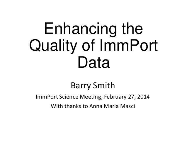 Enhancing the Quality of ImmPort Data