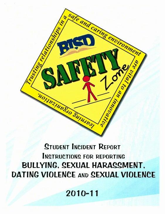 BISD Safety Zone Handout