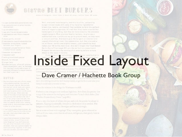 Inside Fixed Layout Dave Cramer / Hachette Book Group