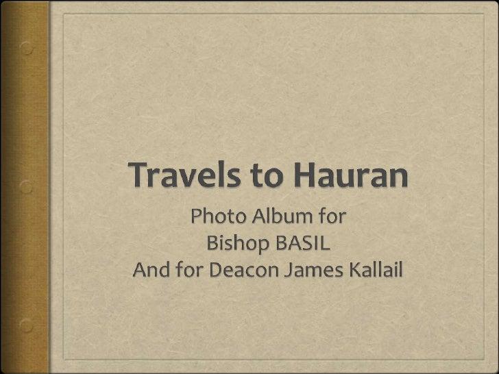 Bishop Basil in Hauran
