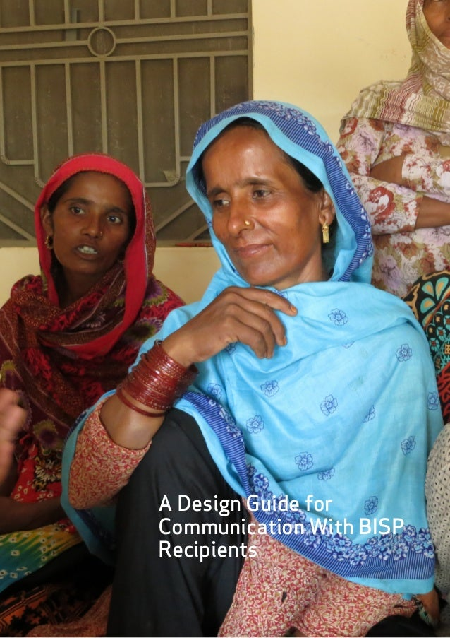 A Design Guide for Communicating with BISP Recipients in Pakistan