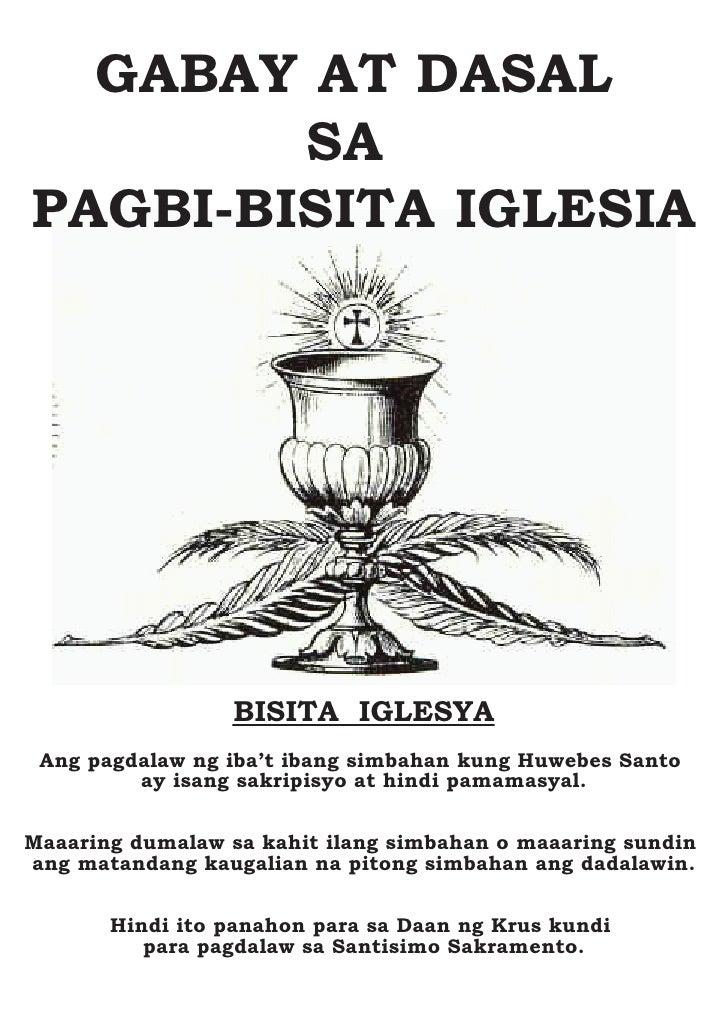 GABAY AT DASAL         SA PAGBI-BISITA IGLESIA                       BISITA IGLESYA  Ang pagdalaw ng iba't ibang simbahan ...