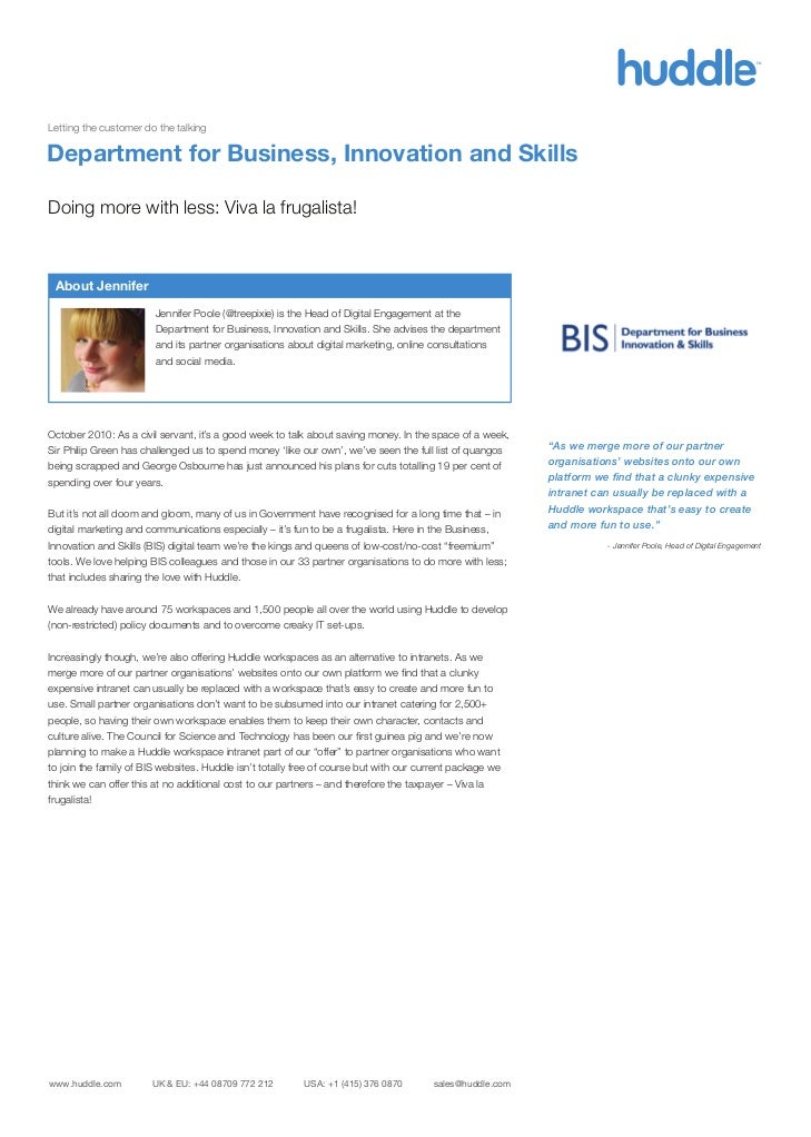 BIS talks about Huddle