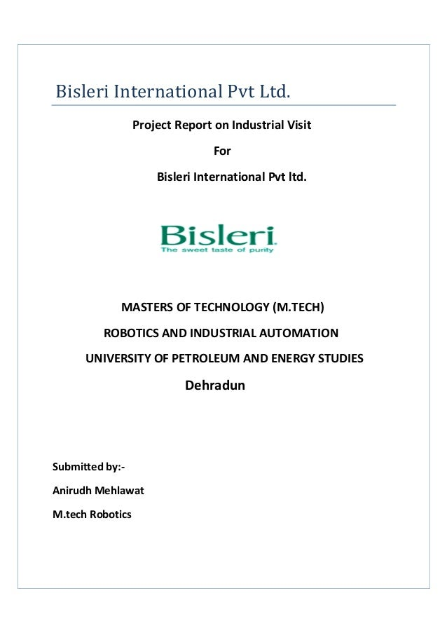 """project report on bisleri pvt ltd essay Marketing management interim report: """"maggi"""" - a brand of nestle india pvt ltd • click on download to get complete and readable text • this is a free of charge document sharing network."""