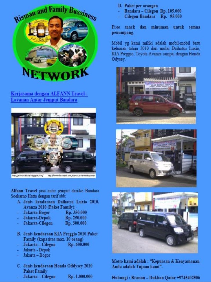 Bisnis alfan travel & risman biz net