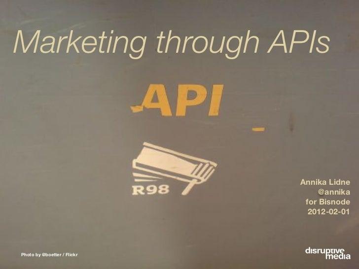 Bisnode: Marketing through APIs