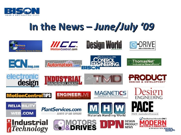 In the News –  June/July '09