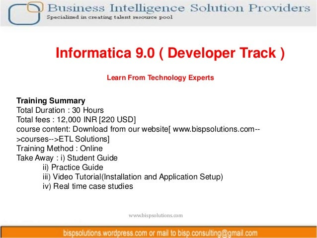 Bisp informatica online training