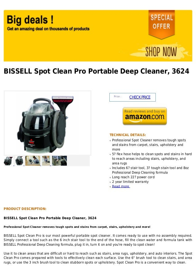 BISSELL Spot Clean Pro Portable Deep Cleaner, 3624                                                                        ...