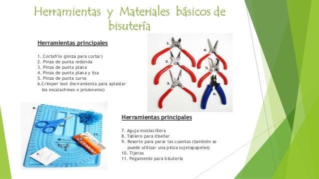 4. Herramientas y Materiales básicos de bisutería