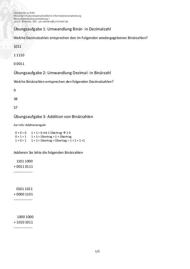 Universität zu Köln Historisch-Kulturwissenschaftliche Informationsverarbeitung Basisinformationsverarbeitung I Jan G. Wie...