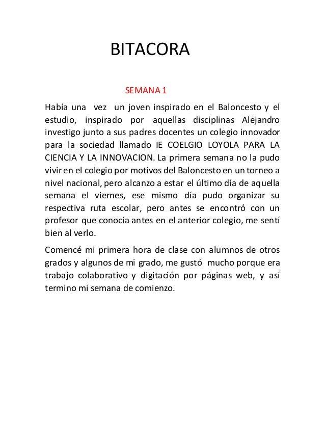 BITACORA SEMANA 1 Había una vez un joven inspirado en el Baloncesto y el estudio, inspirado por aquellas disciplinas Aleja...